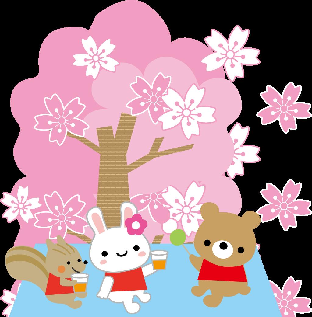 お花見イメージイラスト