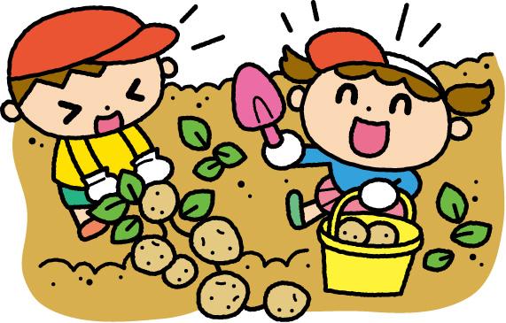 ジャガイモ掘りイメージイラスト